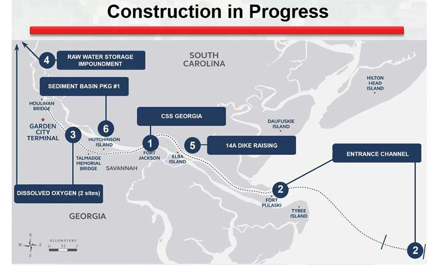 Savannah Harbor Expansion Project Map