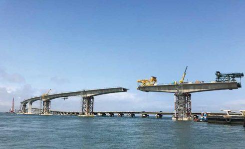 Herbert C. Bonner Bridge Progression