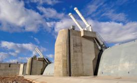 Dam's eight hydraulically operated gates