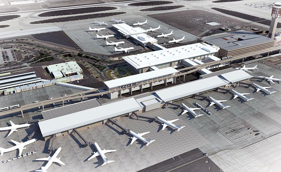 Sky Harbor Airport Terminal Sheds Concrete 2017 01 09 Enr