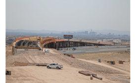 Nevada Speedway Interchange construction