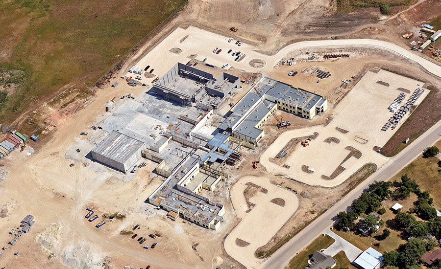 construction at West ISD high school and middle school