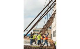 installing tilt wall panels at Fit N Wise recreation center