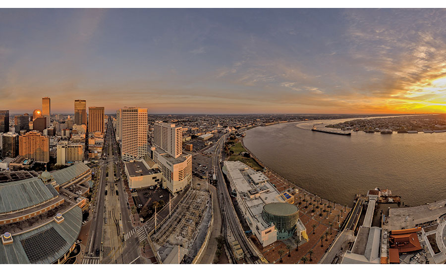 Overlooking downtown New Orleans