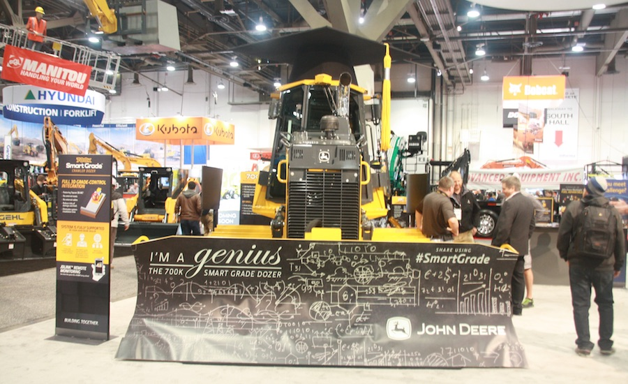 Deere Launches 'Smart' Dozer with Integrated Grade Controls at World of Concrete 2016