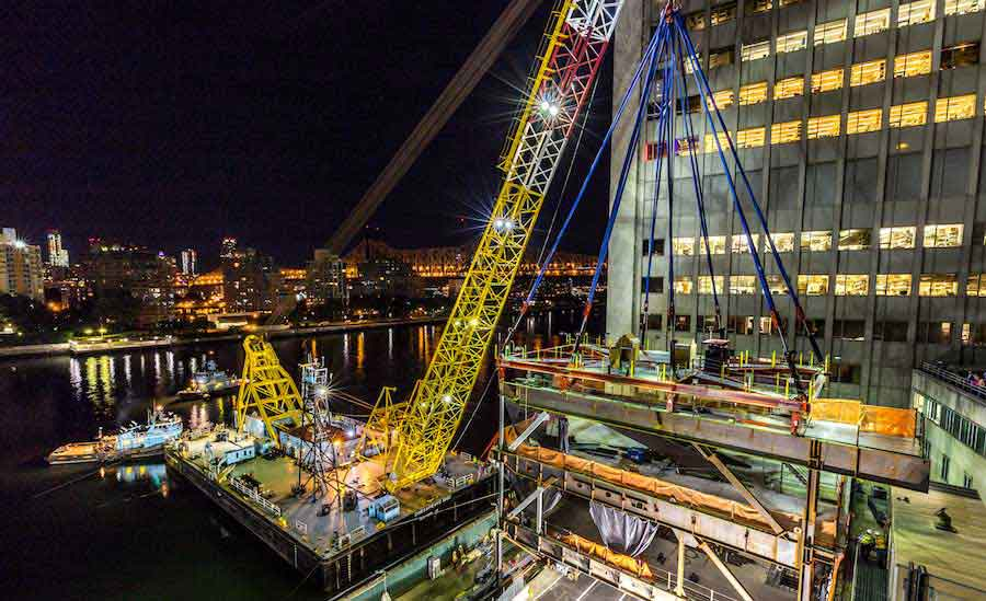 Floating Crane on Job in NYC's East River Has a Storied Past of Cold War Intrigue