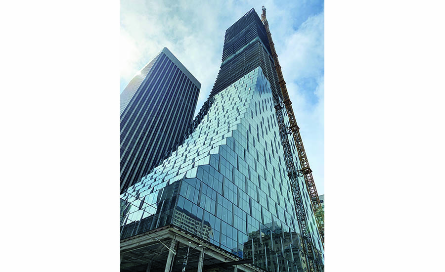 Erector Tops Out Rainier Square Tower in 10 Months, as Predicted