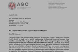 AGC Letter to Mnuchin