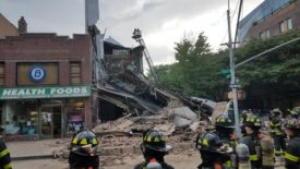 Three-story building partial collapse Carroll Garden