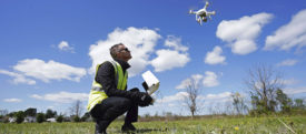 Engineer board fights drone survey photographer
