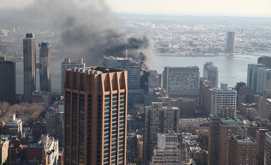 Fire Damages Unfinished Hospital Tower at NYU Langone