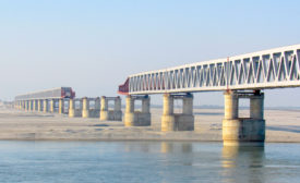 Bogibeel 5-km Bridge in Assam
