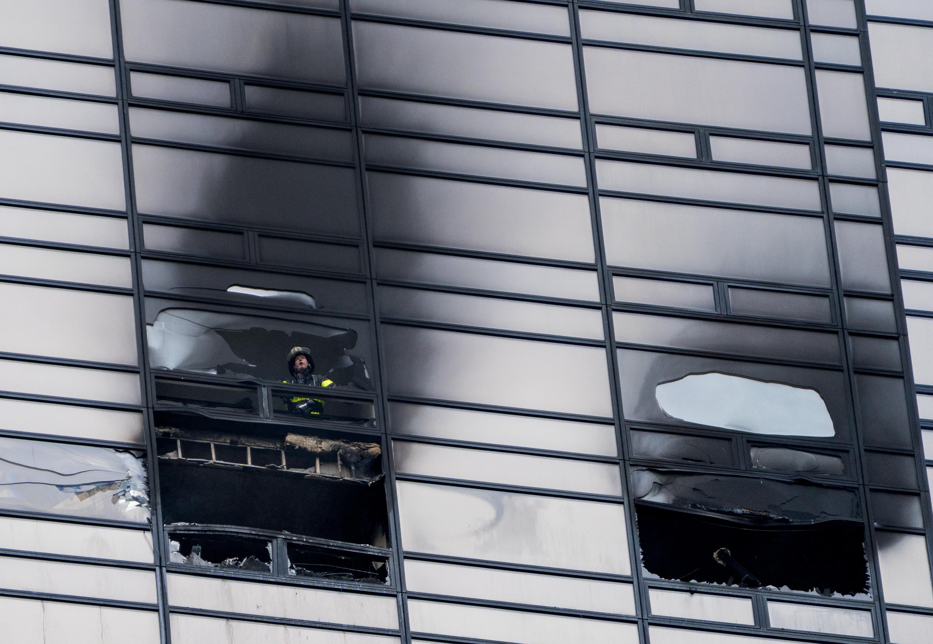 trump tower fire firefighter