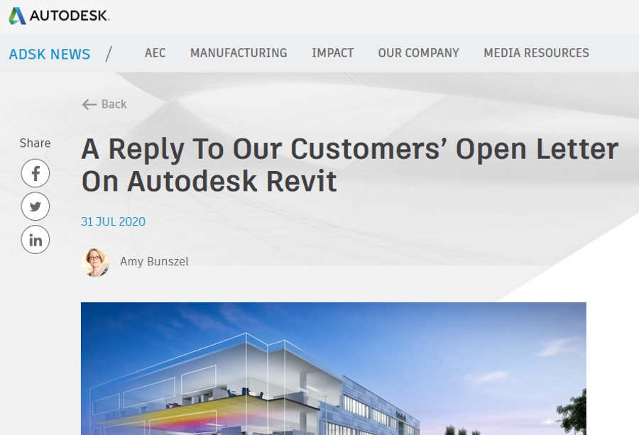 Autodesk Admits It's Underinvested in Revit Development, More Firms Join Letter Requesting Change