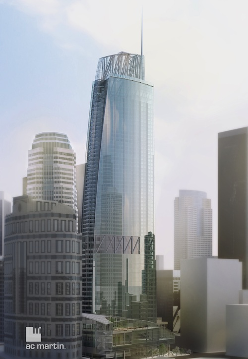 New Wilshire Grand to Tower Above Downtown Los Angeles