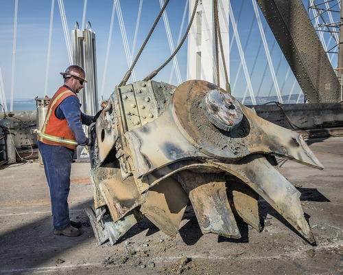Crews Perform High-Wire Act at San Francisco-Oakland Bay Bridge Removal