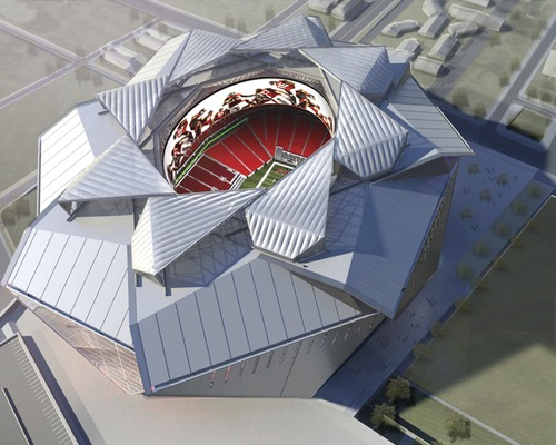 Falcons Stadium Architect Goes 'Over the Top' With Roof Design