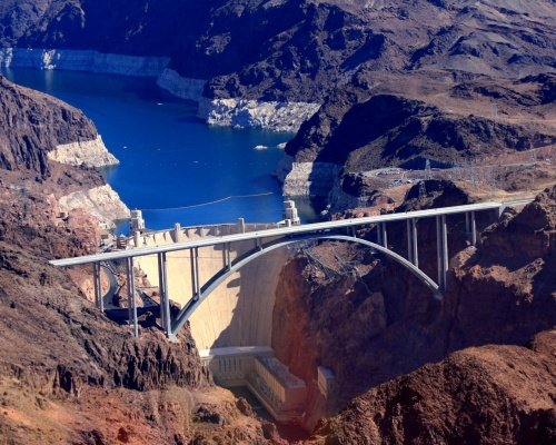 Hoover Dam Bypass Bridge Dedicated | 2010-10-19 | ENR