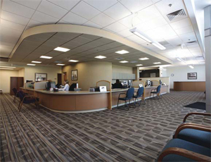Interior view of Ada County Assessor's Office in Boise, which recently earned LEED certification.