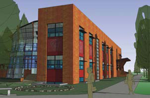 Rendering of $5.9-million Native American Studies Center being constructed at the University of Montana in Missoula.