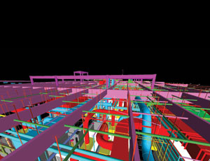 BIM models allow a design-build team to visualize synergies and conflicts in the various systems.