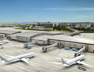 The new Concourse B will offer 19 gates, six more than the current concourse.