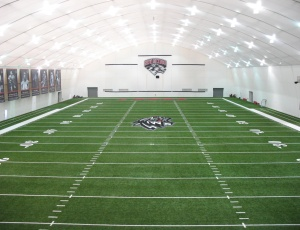 Summit Structures designed the University of New Mexico Indoor Practice Facility