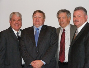 CEA�s 2010 officers are, from left, Michael Walton, secretary; Patrick Callahan, first vice president, Hathaway Dinwiddie; Chuck Palley, past president/treasurer, Cahill Contractors; and Rick Martellaro, president, Lathrop Construction. Not pictured is Robert Hood, vice president, Clark Construction Group � California LP.