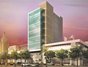 Miami Dade College is constructing a hospitality management building in downtown Miami.