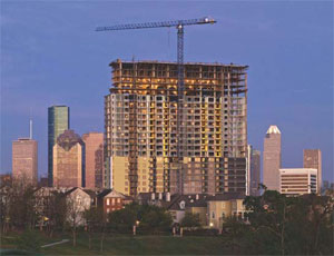 E. E. Reed Construction recently completed the 25-story Legacy at Memorial apartment complex in Houston.