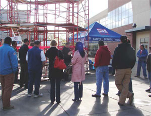 Various classes and demonstrations at the Expo focused on scaffold awareness, safety and new products.