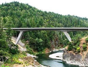 Structure Project of the Year went to Confusion Hill Bridge on U.S. 101 in Mendocino County