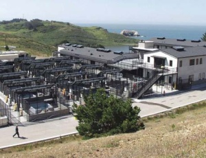 The marine mammal center contains 39 outdoor pens and pools for animals.