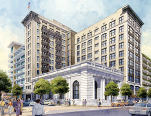 Developers announced plans recently to redevelop the historic Barnett Bank and Laura Street Trio buildings in downtown Jacksonville into a mixed-use development, including a boutique hotel, restaurants, retail shops and residential rental apartments.