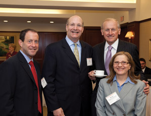 From left: Philip Ross of Anchin, Jay Walder of the MTA, Richard Anderson, New York Building Congress, and Kayte Steinert-Threlkeld of Anchin