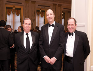 From left: Neil Lucey, Chairman-elect, ACEC New York; Jay Walder, Chairman and CEO, MTA; and Robert Radley, Chairman, ACEC New York.
