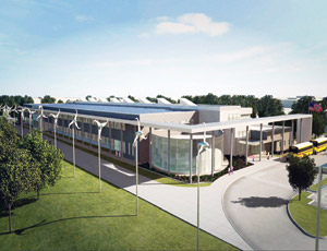 The new Lady Bird Johnson Middle School is designed to be a net-zero school for Irving ISD. Image: Charter Builders/Corgan Assoc/IISD.