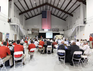 Terex recently marked its first year of occupying its new space in its the new Oklahoma City facility. Photo: Terex.