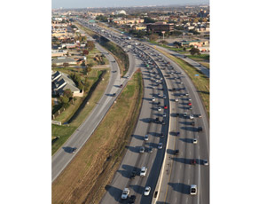 Traffic on IH-635 (LBJ Express) in Dallas is estimated to exceed 450,000 vehicles by 2020. The LBJ Express project will give motorists a choice to by-pass mainlane congestion by using managed lanes when complete by 2016. Photo: TxDOT.