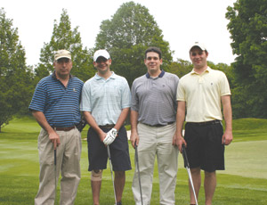 The Real Estate Lenders Association recently held their Seventh Annual Thomas E. Sasso Memorial Golf Outing at the Metropolis Club in White Plains, New York. The event included over 100 members of the real estate and related communities participating in a golf, dinner and networking event honoring former RELA President Thomas E. Sasso. From left: RELA Board Members Bob Persico, Mike Rodgers, Larney Bisbano and Jeff Nicholson.
