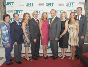 The Real Estate & Construction Industry Chapter of ORT America held a special breakfast briefing and networking event at the Haworth Showroom located at 125 Park Avenue in Manhattan. From left: Marilyn Thypin; Alan E. Klugman, National Executive Director of ORT America; Debrah Lee Charatan, Debrah Lee Charatan Realty, Inc.; Arthur Draznin, Newmark Knight Frank; Dottie Herman, Prudential Douglas Eilliman; Louise Brause, Brause Realty Co.; Barbara Laskin, Laskin Media, Inc.; Rochelle Crespi, GuardHill Financial Corporation; and Herbert M. Kaplan, Senior Director of Development, ORT America.