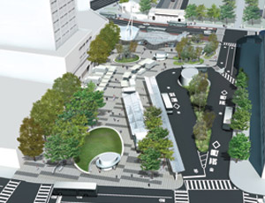 The DOT and the NYCEDC's master plan for the redesign of Fordham Plaza is to transform the plaza into a pedestrian and environment friendly, world class transit hub.