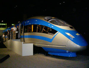 Attendees to the forum could board a Siemens high-speed rail train.