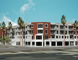 Developer Meta Housing, John Cotton Architects and general contractor Optimus Construction broke ground on a combination senior housing community/theater in North Hollywood.