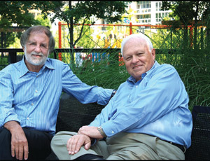 "Co-CEOs ""We only get in trouble when he thinks like a lawyer and I think like an architect,"" says Joel Carlins (left) of Jim Loewenberg (right)."