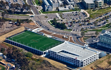Rooftop Soccer Field Complements New Ucsd Parking