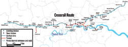 Crossrail will involve building 21 km of rail tunnels and seven stations.