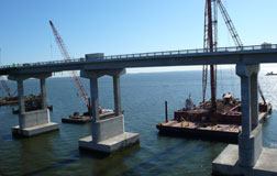 Lake pontchartrain bridge work halted following fatal accident