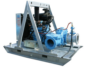 Skid-mounted pump: High Flow Rate Keeps It Moving