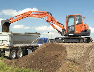 Utility-Class Excavator: Double-Boom